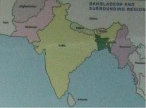みどり部分がバングラデシュ